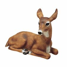 Doe Deer Outdoor Statues Garden Animal Resin Durable Realistic Looking Eyes