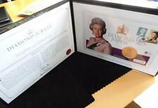 2012 SILVER GOLD PLATED PROOF UK  £5 COIN THE DIAMOND JUBILEE PNC + COA RARE