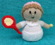 KNITTING PATTERN - Wimbledon Tennis Player chocolate orange cover or 15 cms toy