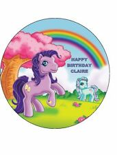 """7.5"""" MY LITTLE PONY EDIBLE ICING BIRTHDAY CAKE TOPPER"""