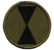 """3"""" 7th Infantry Division OD - 7th Division Light - Ft Ord Ft Lewis - Dated 1983"""