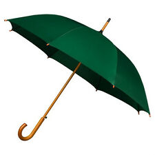 The Alrai Wood Hook Automatic Walking Umbrella for Wedding and Events - Green
