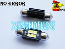 2X BOMBILLAS LED FESTOON 36MM C5W CANBUS 6 LEDS SAMSUNG 3528 BLANCO PURO