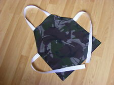 Younger Childs Fabric Apron made in FAB Green Camouflage Cotton Fabric