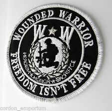 WOUNDED WARRIOR CLASSIC ROUND EMBROIDERED PATCH 3 INCHES