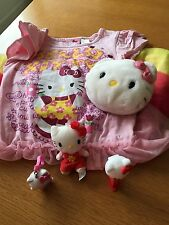 HELLO KITTY! Lot Of 5 Items, Dress M 7/8, Key Chain, Pez Dispenser, Bag, Toy