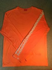 GALLO of ITALY  - LONG SLEEVE T SHIRT - ORANGE W/ROOSTER LOGO ON SLEEVE -SZ M
