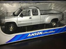Anson Collectibles Chevrolet Silverado Dually 1:18 1/18 Silver Rare! Scarce