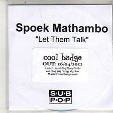 (DB124) Spoek Mathambo, Let Them Talk Ft Yolanda - 2012 DJ CD