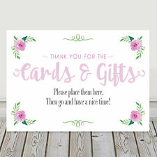 Pink Wedding Table Sign Thank You For Our Cards and Gifts BUY 2 GET 1 FREE (P4)