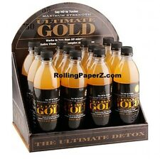 12 ULTIMATE GOLD 16 OZ DETOX DRINKS with Counter Top Display - Cleans Impurities