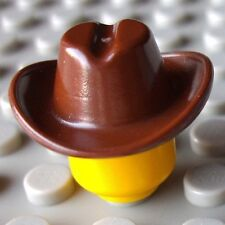 LEGO® brown minifigure COWBOY HAT (wild west vintage old town 1970 1980s train)