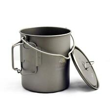 Toaks Titanium Pot Outdoor Camping Picnic Cup Cookware 750ml Pot W/ Bail Handle