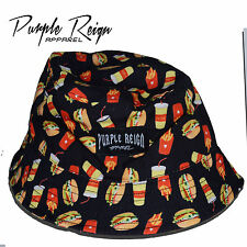 "PURPLE REIGN ""BLACK BURGER"" Bucket Hat supeme hundreds diamond stussy HBA Obey"