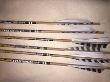 Gold Tip Traditional Classic Hunter 500 Arrows 1/2Dozen With 74gr Insert