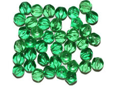 Peridot Round Hexagon Czech Pressed Glass Beads 6mm (pack of 40)