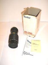 CANON/VIVITAR 80-200mm f4.5 ZOOM LENS!! EXCELLENT PLUS w/CAPS & instructions