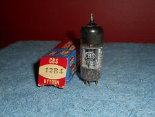 CBS 12B4 HYTRON Vacuum Tube NOS 1950'S Black Plate Receiving Radio TV Electron T