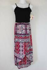 NEW Womens Maxi Dress Plus Size 2X Long Wrap Skirt Sleeveless Spaghetti Strap