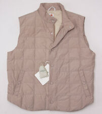 NWT $1495 BORRELLI NAPOLI Lightweight Quilted Down-Filled Vest 54/XL Italy