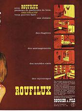 PUBLICITE ADVERTISING  1964   ROUGIER & FILS panneaux particules de bois