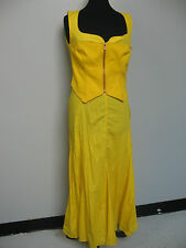 Bright sunshine yellow long dress with a midriff section by Christian LaCroix