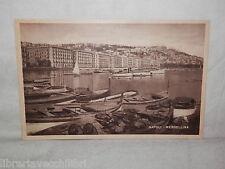 Vecchia cartolina foto d epoca di Napoli Mergellina scorcio mare barche veduta