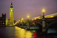 551068 Westminster Bridge And Big Ben London England A4 Photo Print