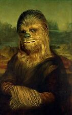 CHEWBACCA Mona Lisa STAR WARS PARODY Funny A5 IRON ON T-shirt Transfer Hoodie