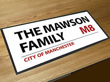 Personalised With your Family London Street sign bar runner Pubs & Cocktail Bars