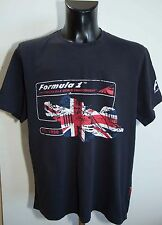 MENS FORMULA 1 TOP T SHIRT SHORT SLEEVE COTTON SIZE XL  VGC