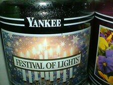 FESTIVAL OF LIGHTS 22 oz YANKEE CANDLE Black Band House warmer Jar NEW Rare
