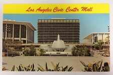 Los Angeles Civic Center Mall Water and Power Building Chrome Postcard Unused