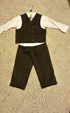 Young Kings By Steve Harvey Boy Toddlers 4 Pc. Suit - Sz 4T chocolate and pink