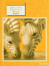 Trophies: Spelling Practice Book Grade 3 by HARCOURT SCHOOL PUBLISHERS