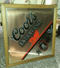 Coors extra gold draft mirror