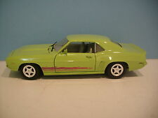 1:18 Scale Lime Green 1969 Chevrolet Camaro 2 Door Hard Top Diecast By Ertl