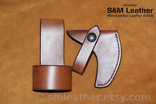 Plumb Boy Scout Hatchet Mask Cover Sheath Leather Handcrafted BSA & Carry Loop