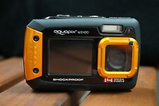 14MP aquapix underwater digital camera, W1400 Dual Screen, 3m Waterproof, Orange