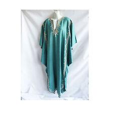 Vintage 60s Kaftan Size XL Egyptian Dress Dashiki Tribal Hippie Boho Angel Sleev