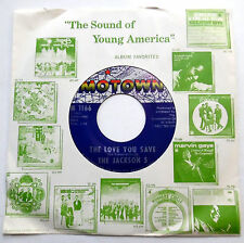 The JACKSON 5 45 The Love You Save / I Found That Girl MOTOWN label Soul MINT-