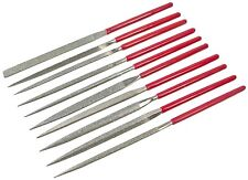 10PC DIAMOND NEEDLE FILE SET PRECISION FILES METAL WORK CRAFT JEWELLERY TOOLS