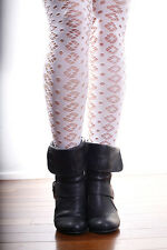 NEW WHITE LACE Floral Nylon Over The Knee Thigh High Socks FREE POST