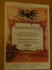 Crippled Black Phoenix Glasgow 2006 tour concert gig poster