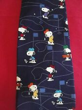 """Peanuts Snoopy Golf Silk Tie 1965 United Features """"WHAT A DRIVE !! """" CLUB dog"""