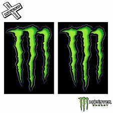"""2x Monster Energy 4 """"pegatinas Verde Claw 100% Original Etiqueta Nuevo Libre del Reino Unido Envío"""