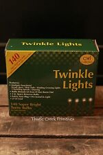 140 Count Teeny Twinkle Lights Strand CLEAR - Brown Cord
