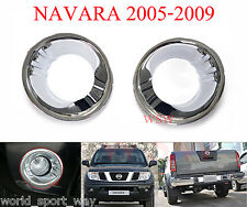 CHROME FOG LIGHT COVER TRIM SURROUND FOR NISSAN FRONTIER NAVARA D40 2005 - 2009