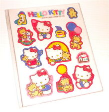 HELLO KITTY 1986 Sanrio Japan sheet with puffy stickers - adesive morbide misb