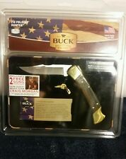 BUCK KNIVES 110 FOLDING HUNTER KNIFE & MATCHING HAT PIN SPECIAL EDITION